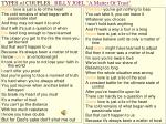 types of couples billy joel a matter of trust