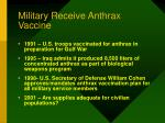 military receive anthrax vaccine
