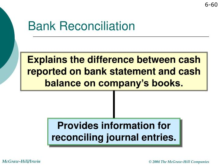 Provides information for reconciling journal entries.