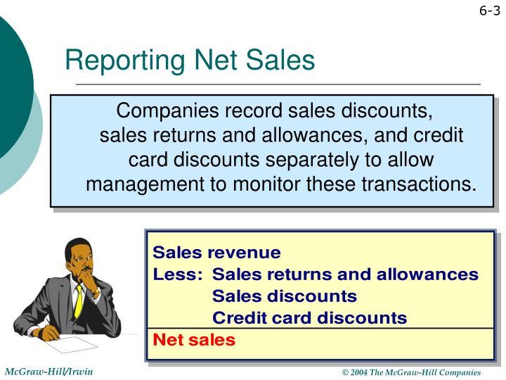 Reporting net sales