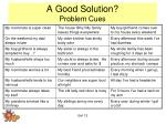 a good solution problem cues1