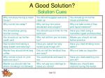 a good solution solution cues1