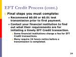 eft credit process cont