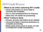 eft credit process