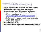 eft debit process cont