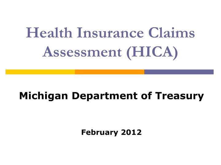 health insurance claims assessment hica n.