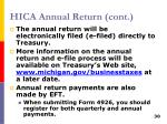 hica annual return cont