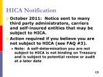 hica notification