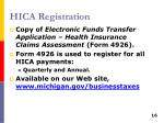 hica registration