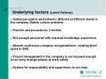 underlying factors latent failures