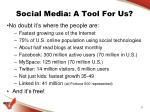 social media a tool for us