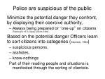 police are suspicious of the public