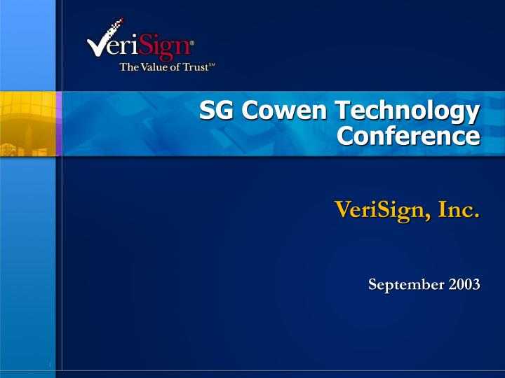 sg cowen technology conference n.