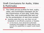 draft conclusions for audio video multimedia