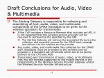 draft conclusions for audio video multimedia2