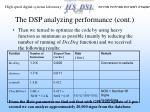 the dsp analyzing performance cont1