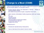 change is a must ciam