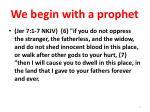 we begin with a prophet2