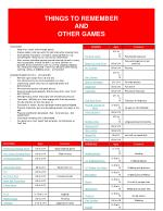 things to remember and other games