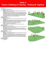 week 4 theme dribbling passing putting all together