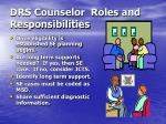 drs counselor roles and responsibilities