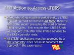 eso action to access ltess