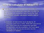 how to calculate stability