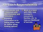 job coach responsibilities