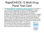 rapidcheck 12 multi drug panel test card
