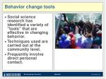 behavior change tools