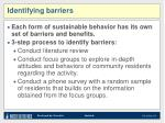 identifying barriers