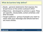 what do barriers help define