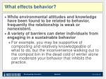 what effects behavior