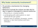 why foster community involvement