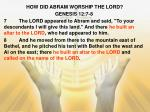 how did abram worship the lord