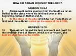 how did abram worship the lord1