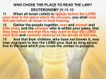 who chose the place to read the law