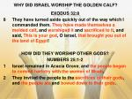 why did israel worship the golden calf
