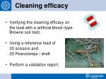 cleaning efficacy