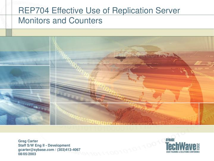 rep704 effective use of replication server monitors and counters n.
