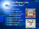 new phone line home run3