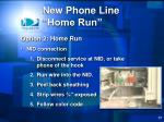 new phone line home run4