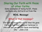 sharing our faith with those of other faiths12