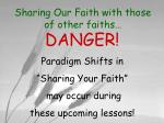 sharing our faith with those of other faiths2