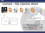 example sql injection attack