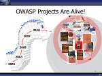 owasp projects are alive