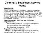 clearing settlement service cont1
