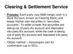 clearing settlement service