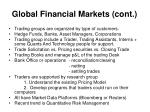 global financial markets cont1