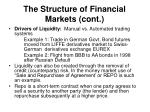 the structure of financial markets cont1